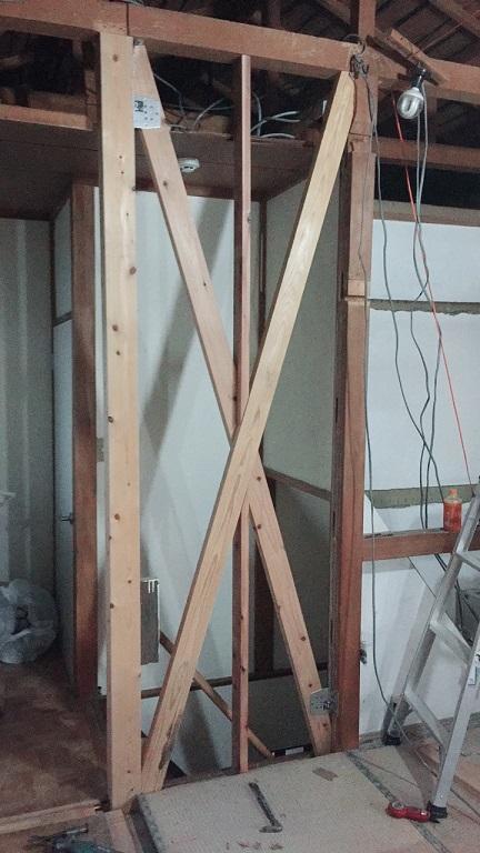 耐力壁を作る工事!